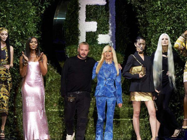 Kim Jones Donatella Versace Milan Fashion week FENDACE