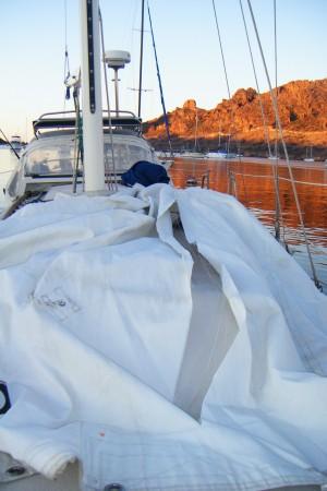 Ripped Mainsail