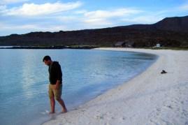 Walking the beach at Isla Coronados (a small island we anchored at earlier this week)