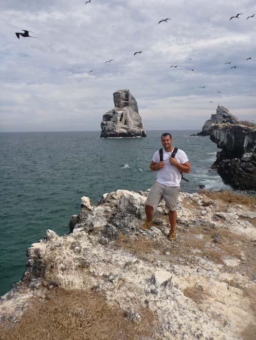 Jonathan in front of Las Monas on Isla Isabel