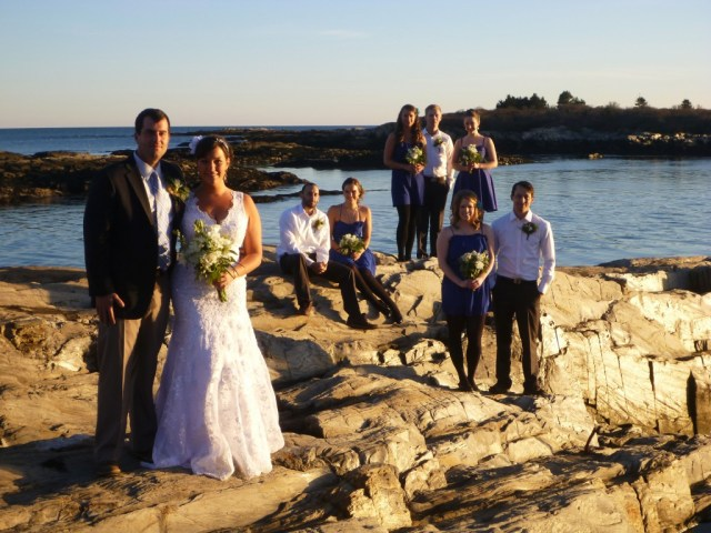 Wedding Day - Group Photo - End of Bailey Island