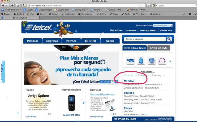 Mi Telcel - Banda Ancha account recharging