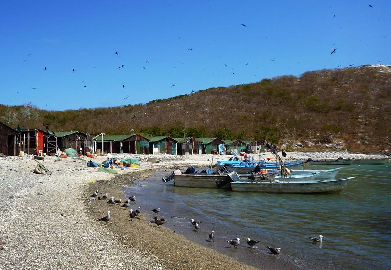 Fishermen's village at Isla Isabela