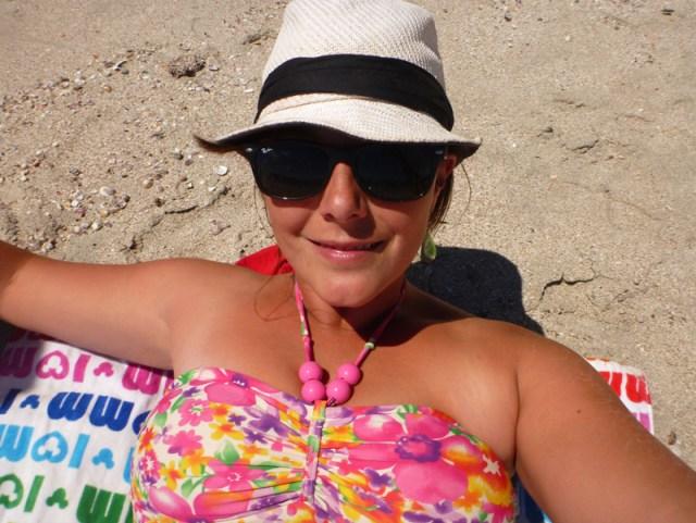 Leah on the beach near La Cruz