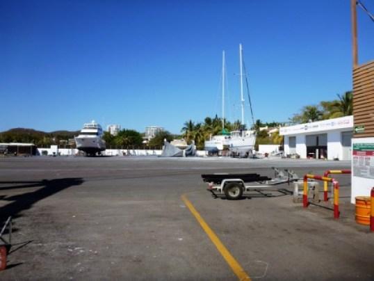 Workyard at La Cruz Shipyard in Puerto Vallarta Mexico