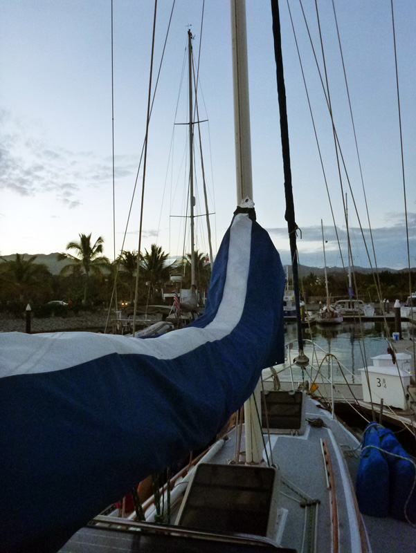 Oh and another Brio Stripe (TM) to make our mainsail cover fit a little better over the new mainsail... and cuz it looks pretty!