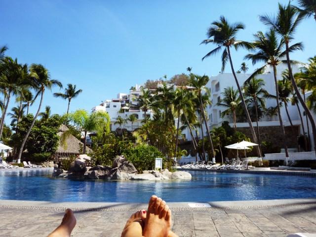 Pool lounging at Las Hadas