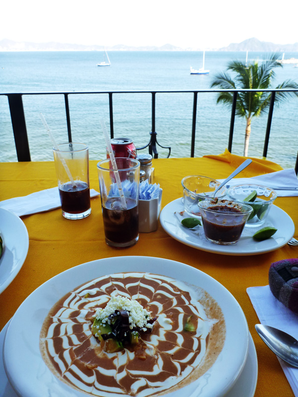 Taco soup at the Paradise Restaurant in Las Hadas