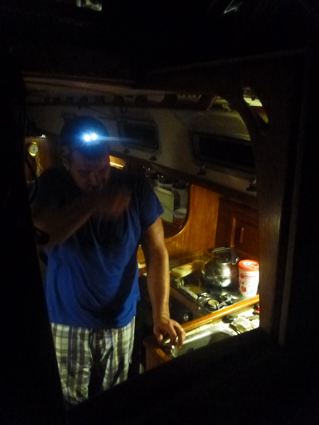 The Mechanic at work -- always in the middle of the night!