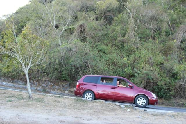 Stupid red van rental car KIA