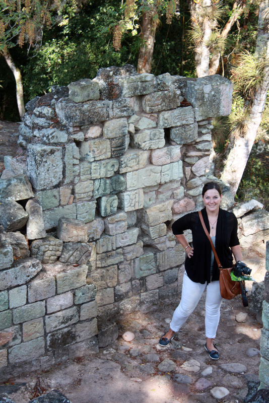 Leah with the Copan Ruins