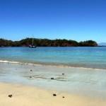 Brio at anchor in Isla Gamez / Isla Partida in Panama
