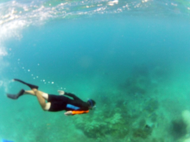 Jon free diving