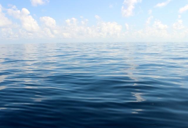 Flat seas off Nicaragua