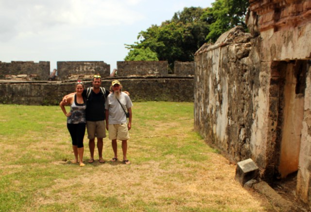Brio crew at Fort at Portobelo, Panama