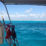 At anchor just outside Isla Mujeres in the channel
