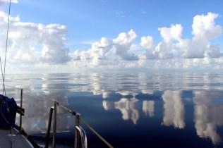 Crazy cloud reflections