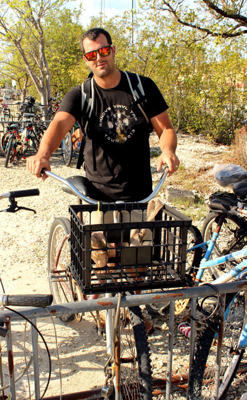 Jon and his bicycle
