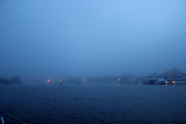 Foggy morning in Georgetown South Carolina