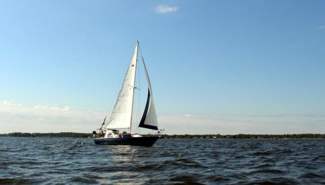 Sailing shot on the Neuse River, North Carolina