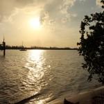 Brio at anchor in Peck Lake, Florida