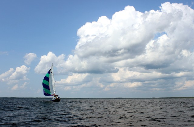Brio under sail in North Carolina