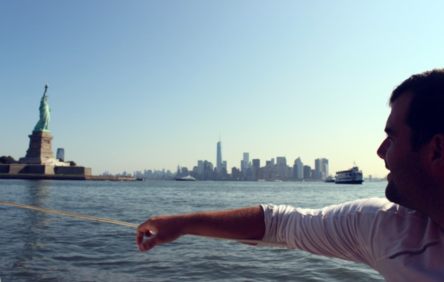 Realizing your dreams - New York Skyline and the Statue of Liberty