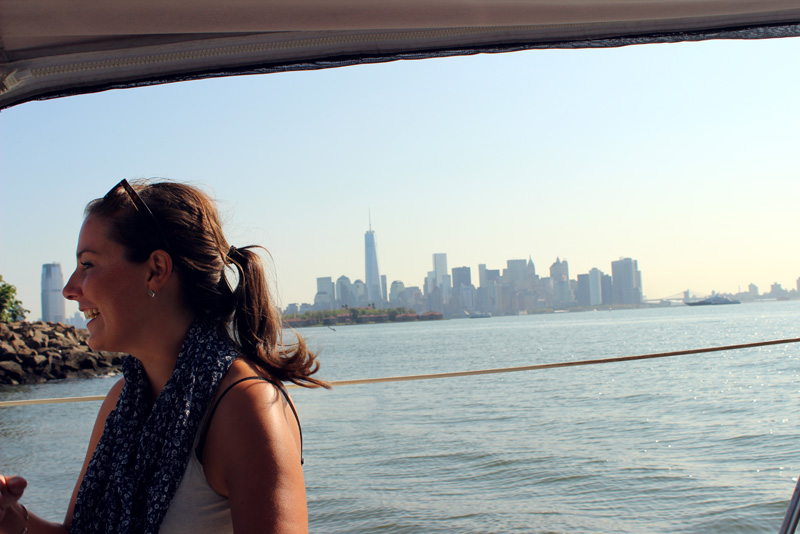 Just happy to have a 3-day passage over - with the New York Skyline behind me