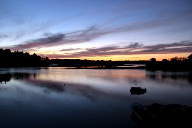 Sunset over Devil's Back, Harpswell