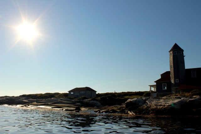 Damariscove Lighthouse and Sunshine