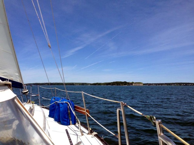 Sailing in Casco Bay, Maine - by Fort Gorges