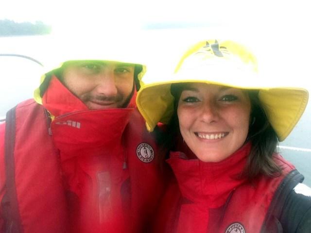 Rainy sailing in Casco Bay