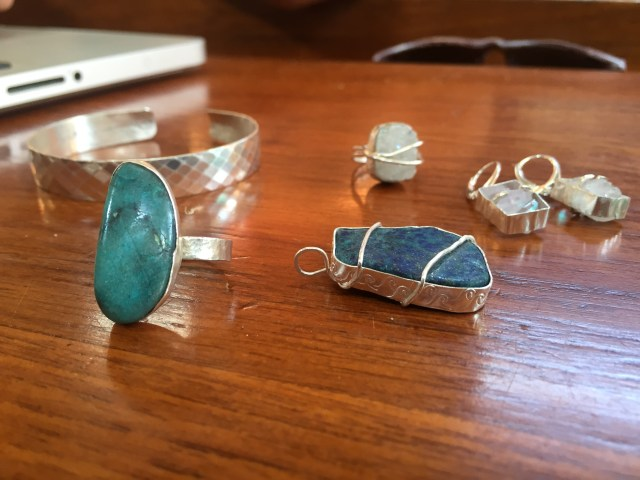 Some of the latest metalsmithing fun...