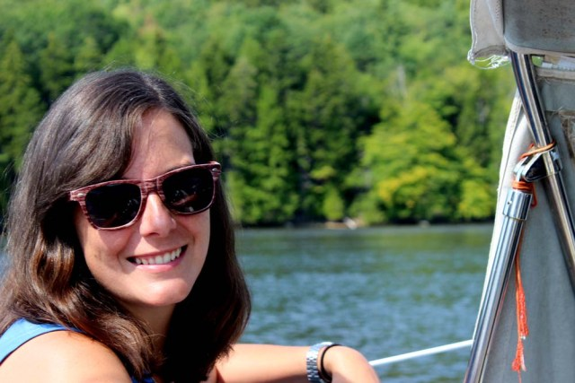 Leah sailing in to Bucksport, Maine