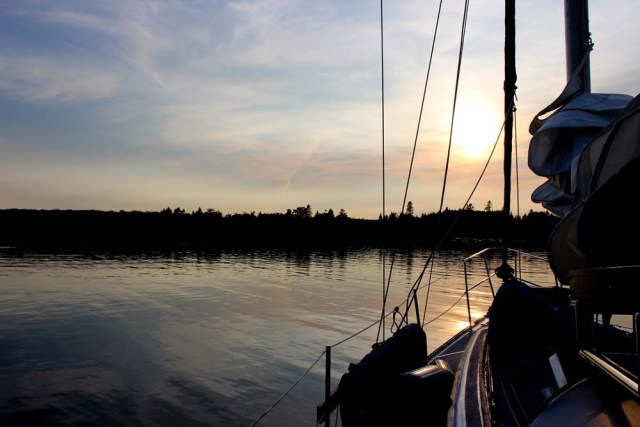 Pretty sunset in Maine