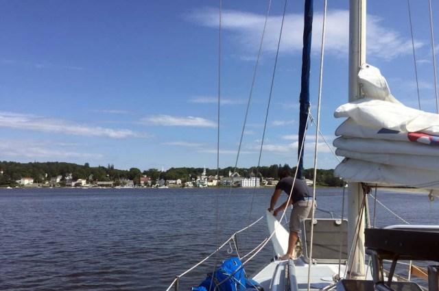 Sailing to Bucksport, Maine