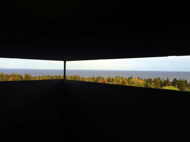 Views from inside the WWII towers at Jewel