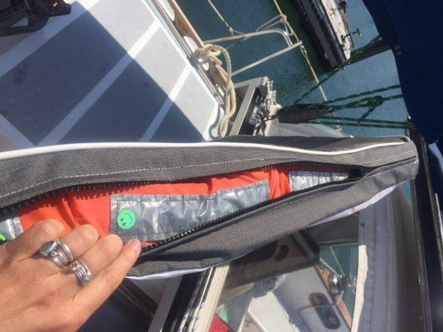 A peek at the lifejackets inside
