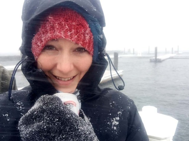 Maine liveaboards - in a blizzard