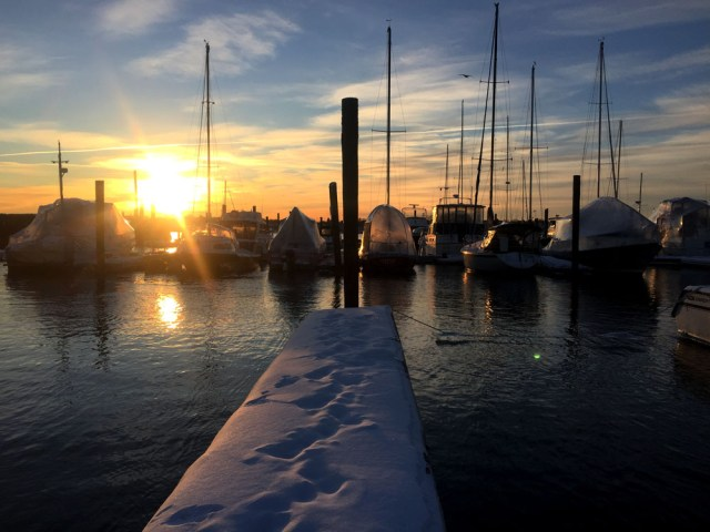 Our third winter living aboard at DiMillos Marina in Portland, Maine - With Brio