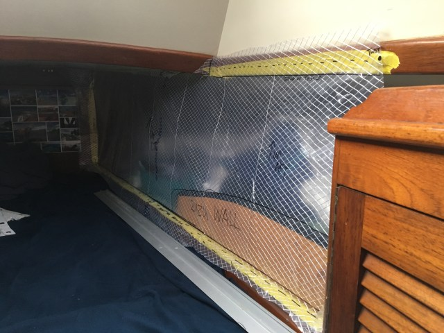 Where will the baby sleep on the sailboat - little bed in the vberth with a half-wall