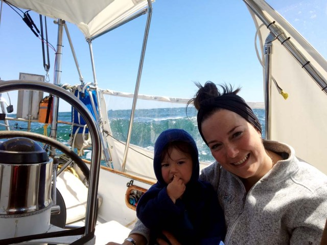 Sailing off the South Carolina coast with 11-month old Zephyr