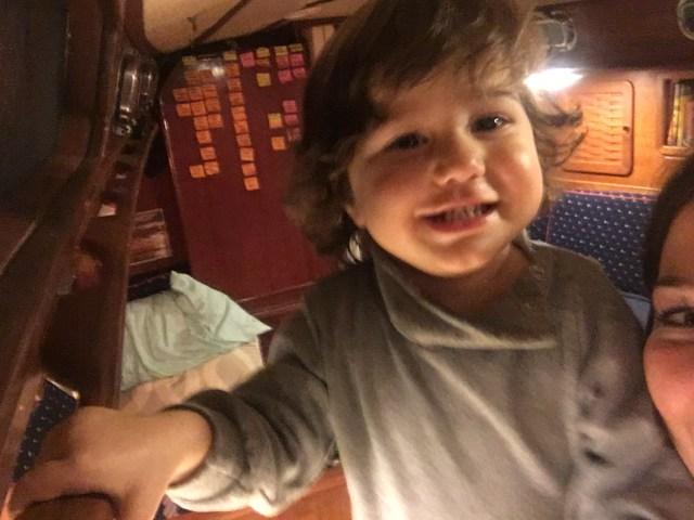 Toddler life on a Sabre 42 CB Sailboat