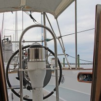 7 Exterior Cockpit from Companionway w Bimini and Dodger