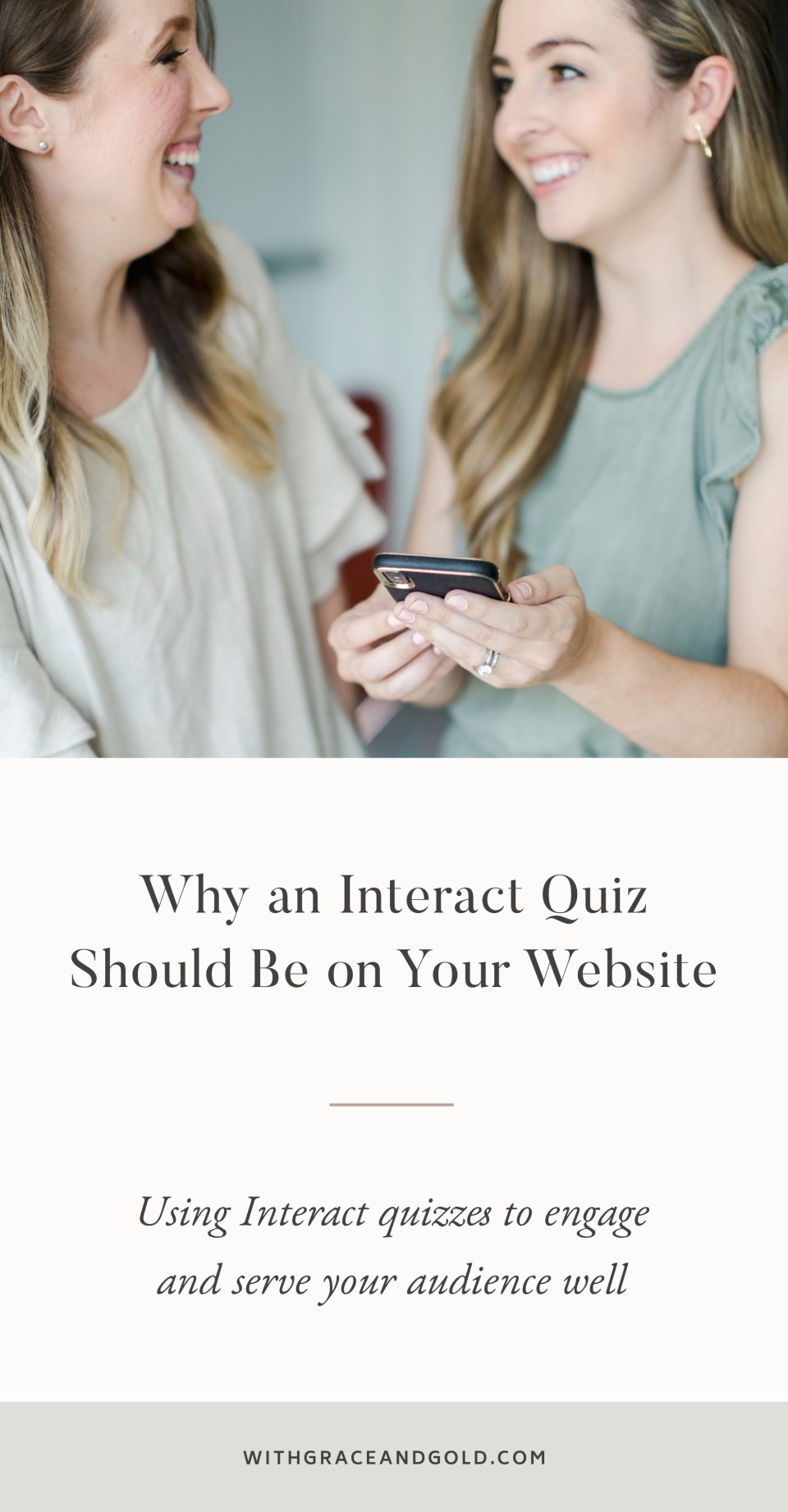 Why an Interact Quiz Should Be On Your Website - Interact Quiz Review - Interact Quizzes - Quiz for Your Website - With Grace and Gold - Web Design for Creative Women in Business