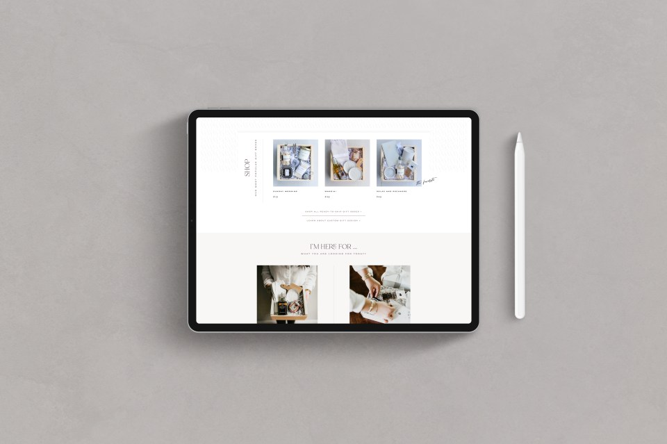 Showit Template, Showit Templates, Showit Website, Showit Websites - Lavender and Pine Gift Boxes by With Grace and Gold - Website for Photographers - 9