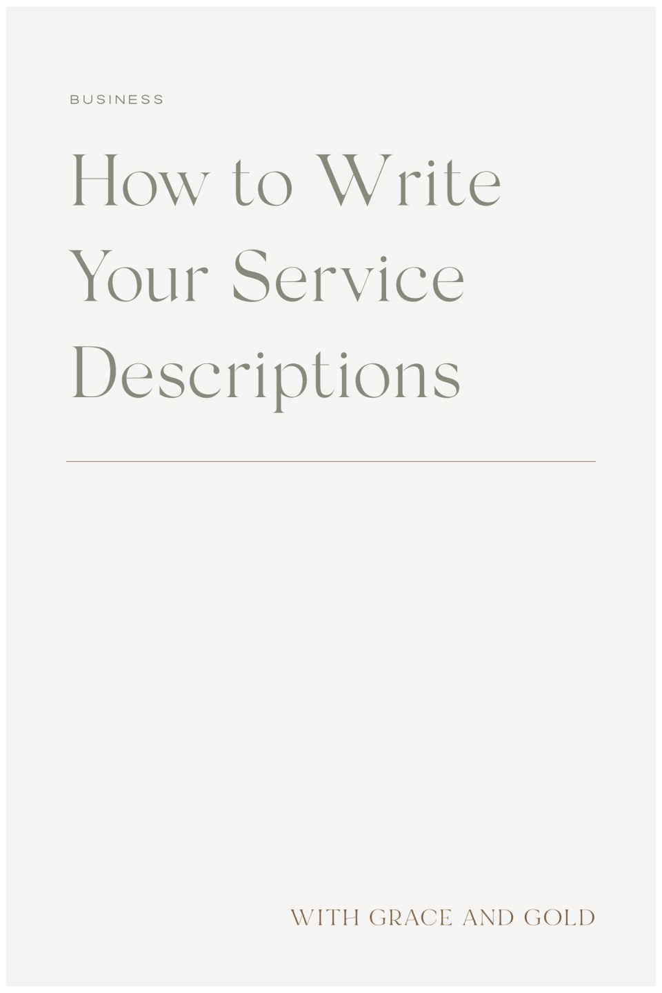 How to Write Your Service Descriptions