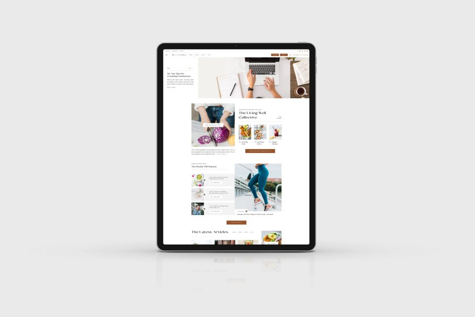 The Living Well Collective - Custom Brand Logo and Showit Web Website Design by With Grace and Gold - Best Web Design Designs Designer Designers for Creative Creatives Small Business Businesses - 5