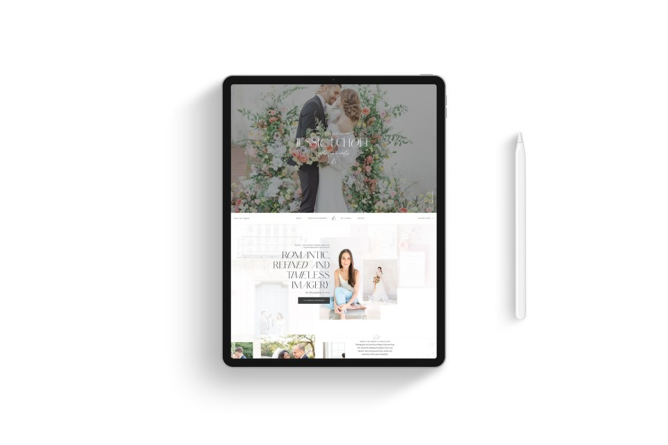 Custom Brand and Showit Web Website Design for Photographer Photographers Light Airy Fine Art - With Grace and Gold - Best Brand and Web Design for Small Businesses - 10