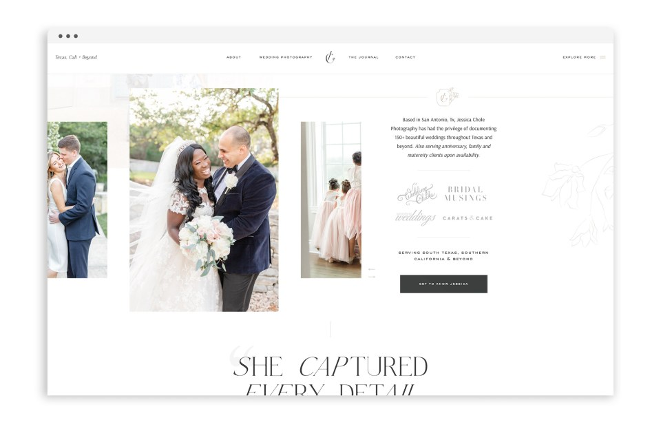 Custom Brand and Showit Web Website Design for Photographer Photographers Light Airy Fine Art - With Grace and Gold - Best Brand and Web Design for Small Businesses - 7